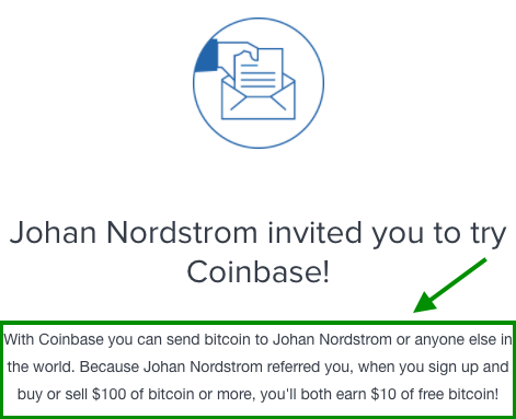Coinbase $10 Free Bitcoin BTC Cryptocurrency